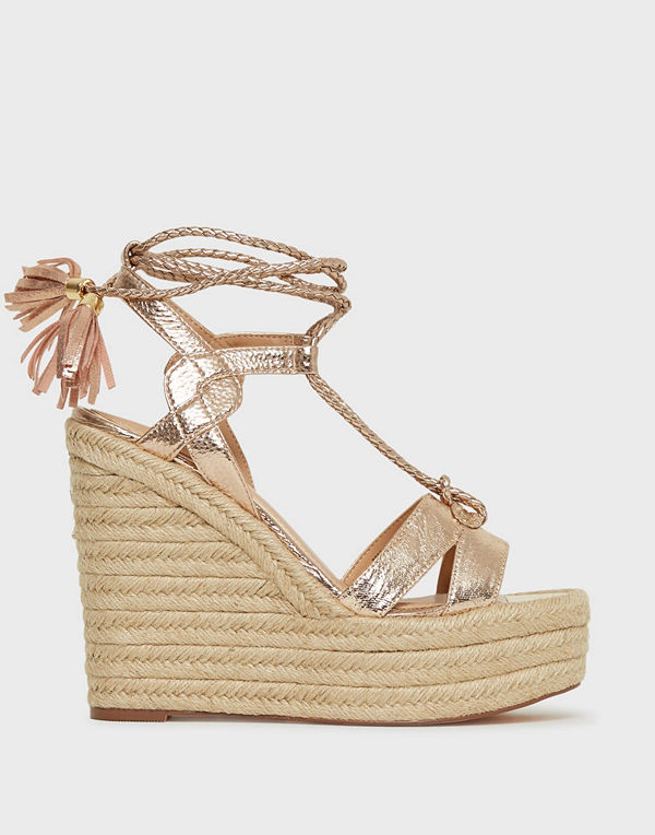 River Island Trap Stappy Tie Up Wedge