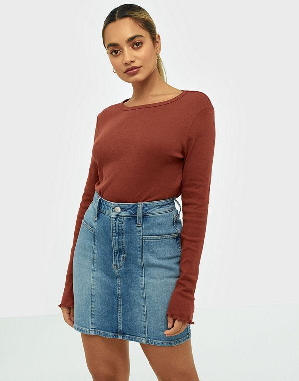 Calvin Klein Jeans Seamed High Rise Mini Skirt