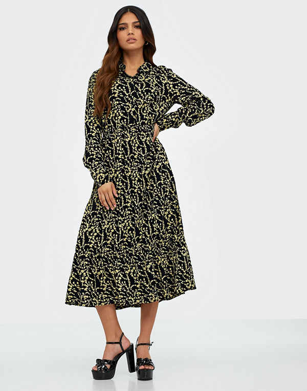Pcnadin Ls Midi Dress