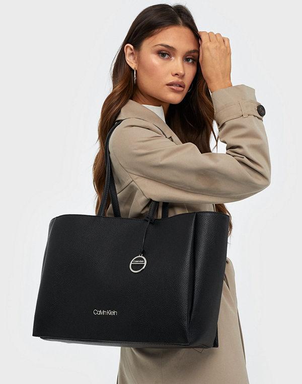 Calvin Klein Sided Shopper W/ Laptop Sleeve