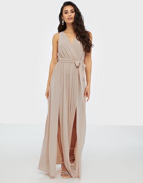 Ax Paris V Neck Side Split Maxi Dress