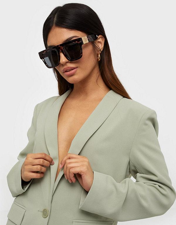 River Island Tort Selena Update Visor Sunglasses