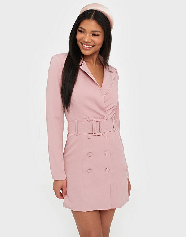 Missguided Belted Buckle Blazer Dress