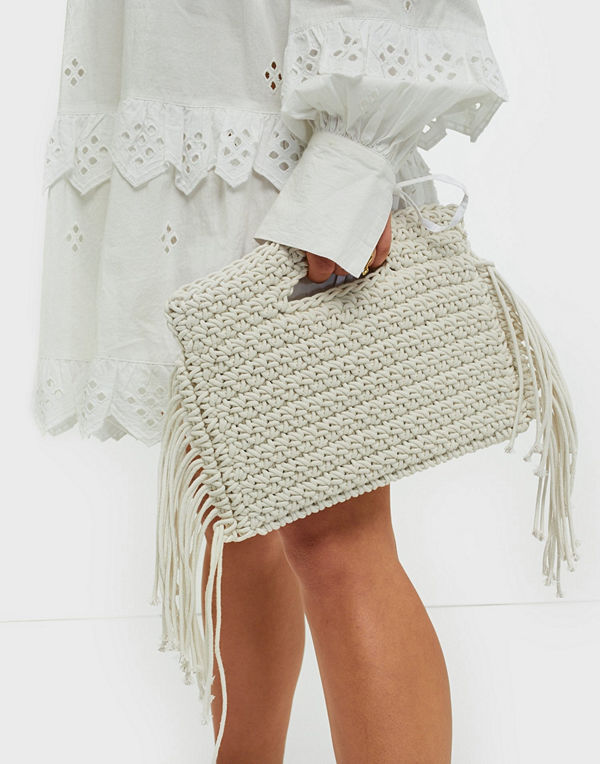NLY Accessories Fringe Rope Clutch