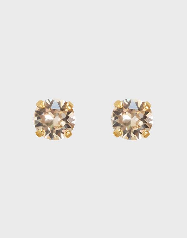 Caroline Svedbom svart smycke CLASSIC STUD EARRING GOLD