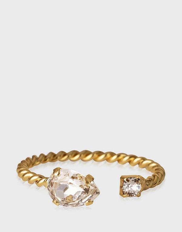 Caroline Svedbom svart smycke NANI RING GOLD