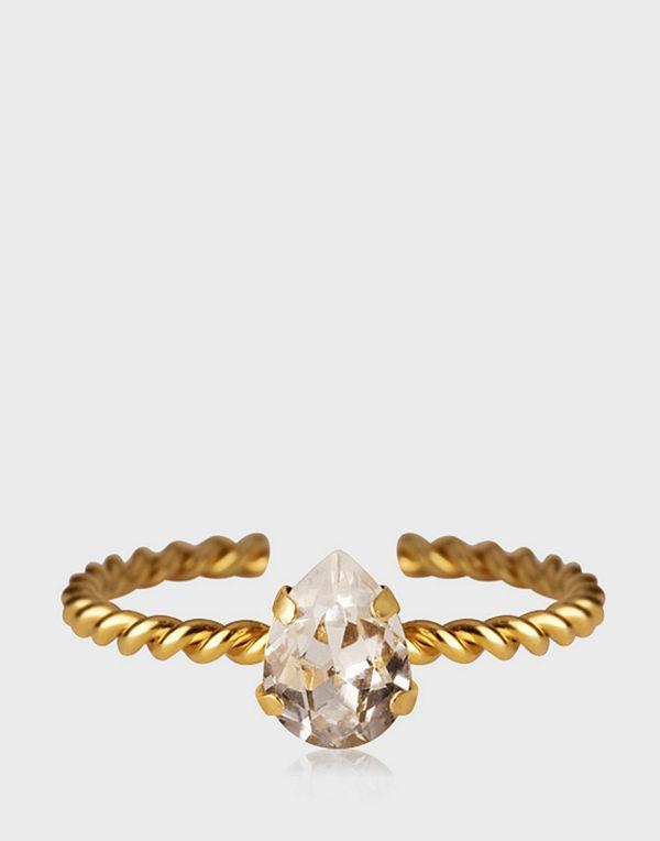 Caroline Svedbom Niki Ring Gold Crystal