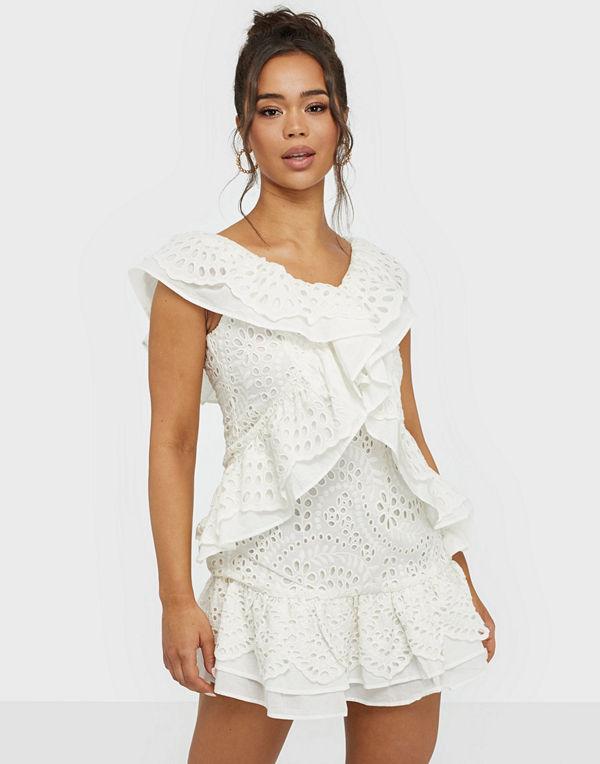 Glamorous Lace V Neck Mini Dress