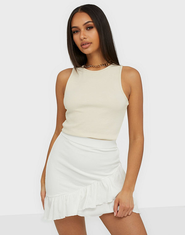 NLY Trend Frill Structured Skirt