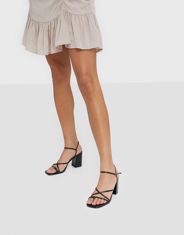 NLY Shoes Flared Block Heel Sandal