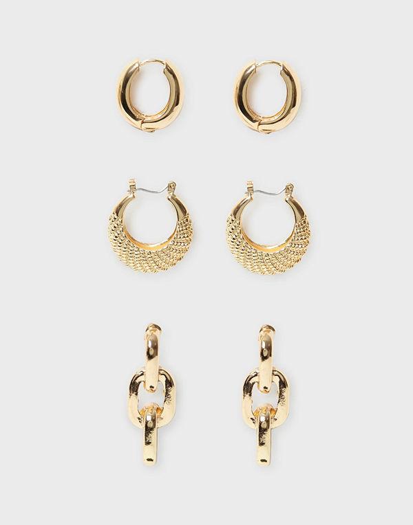 NLY Accessories örhängen 3 pack Showbiz Earrings