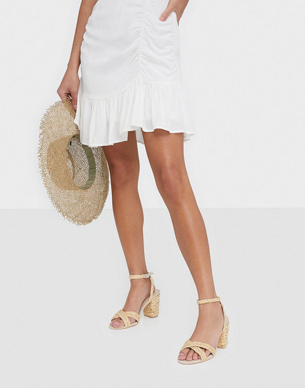 NLY Shoes Braided Block Heel Sandal