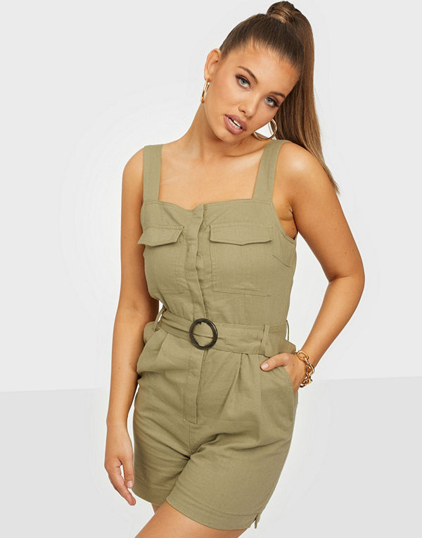 Only Onlnoreen-Bibs Strap Playsuit Pnt
