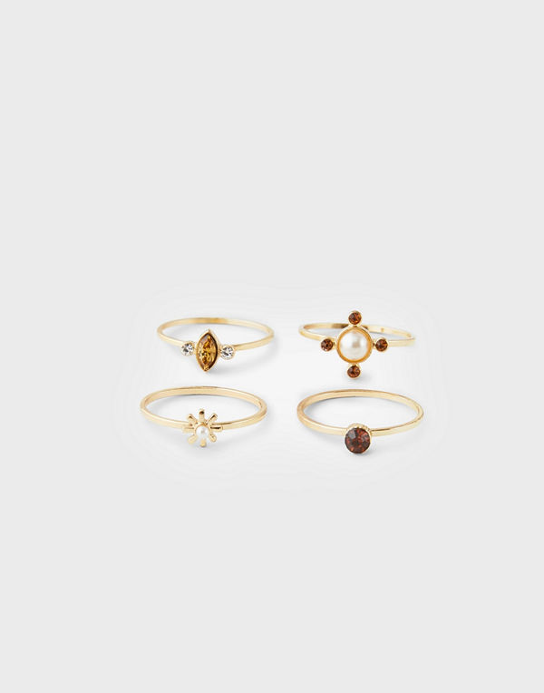 Pieces Pcmartha Ring Set 4-Pack