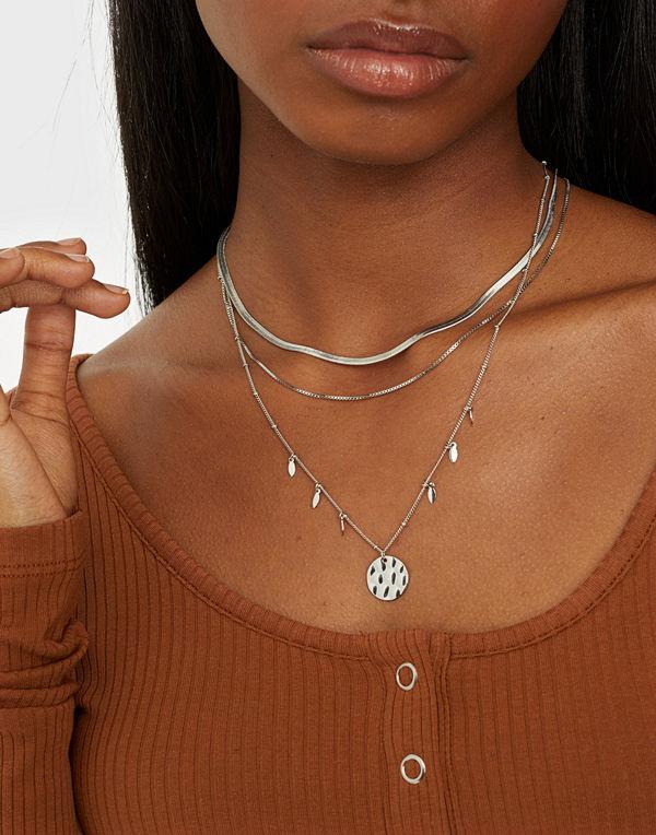 Pieces smycke PCALICIA COMBI NECKLACE D2D