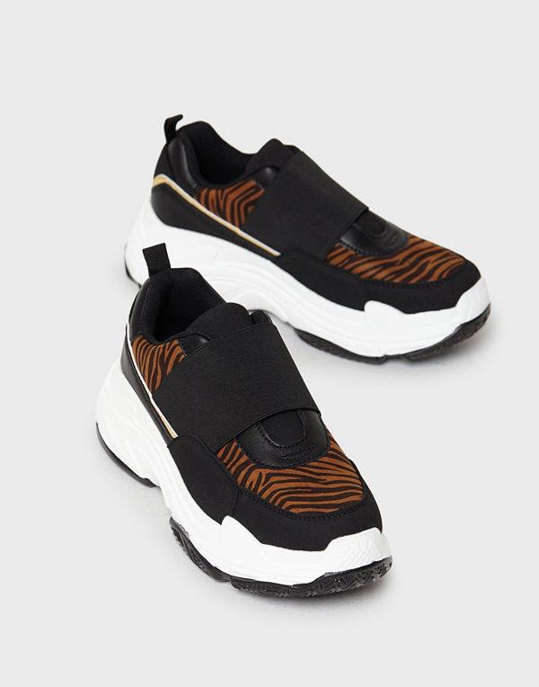 Duffy Tiger Elastic Sneakers