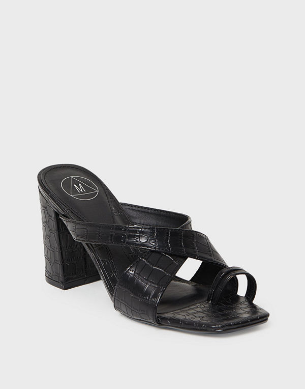 Missguided Thick Crossover Toe Heel