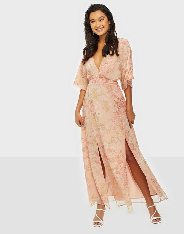 Glamorous V Neck Puffy Maxi Dress