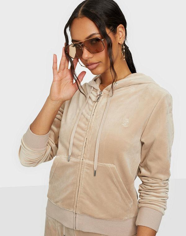 Juicy Couture Robertson Classic Velour Zip Trough Hoodie