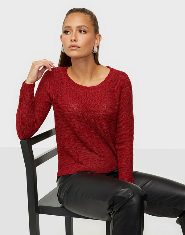 Only onlGEENA XO L/S PULLOVER KNT NOOS