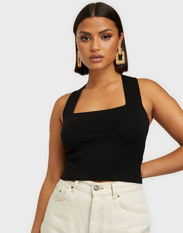 Y.a.s YASEMIL SL CROPPED KNIT TOP GOLDIG