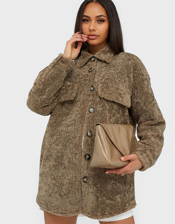 co'couture Fur Crop Jacket