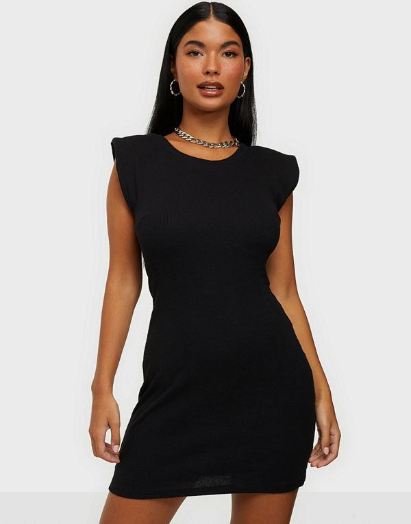 Parisian Shoulder Pad Bodycon Mini Dress