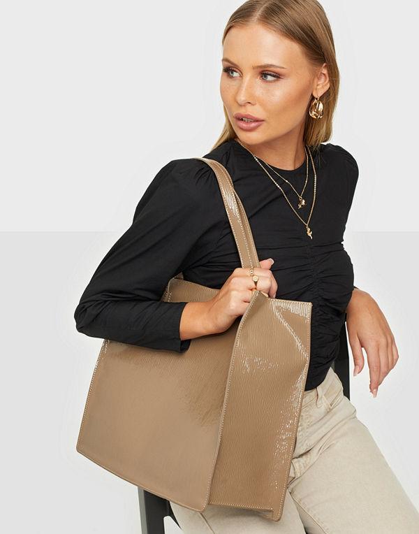 NLY Accessories beige väska All Day Shopper Bag
