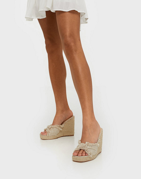 NLY Shoes Braided Platform Wedge