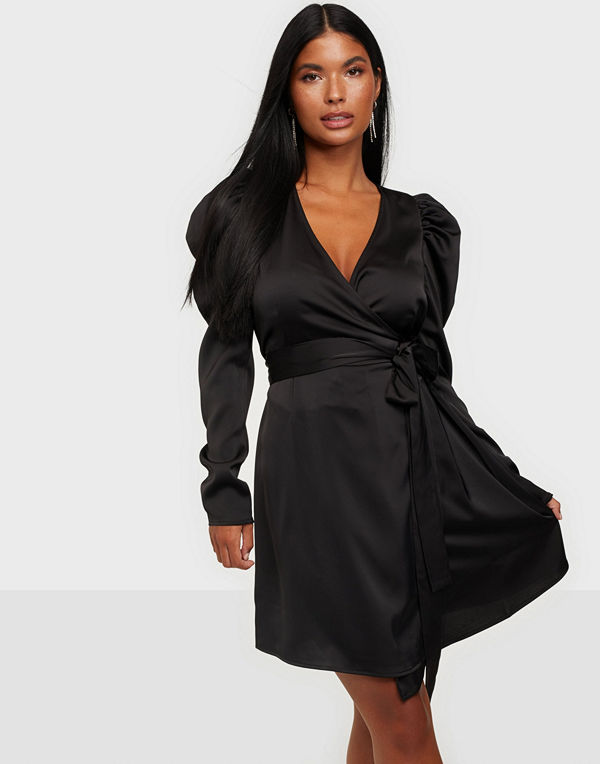Vero Moda VMJUVA L/S WRAP SHORT DRESS WVN LCS