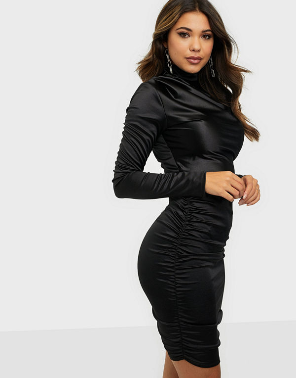 NLY One Draped Satin Dress