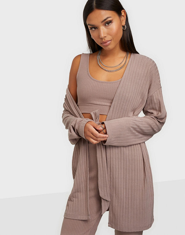 NLY Trend Belted Rib Cardigan