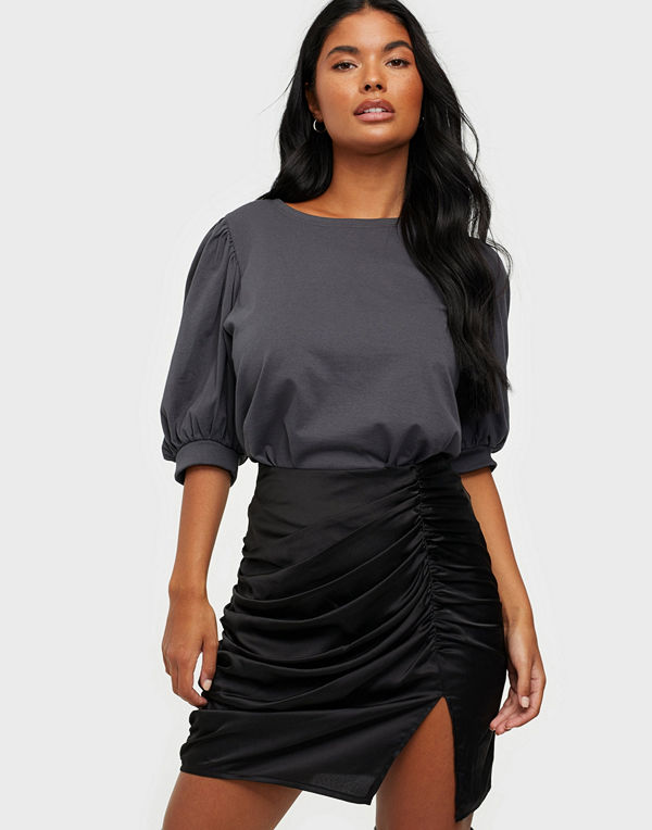 Missguided Ruched Detail Mini Skirt