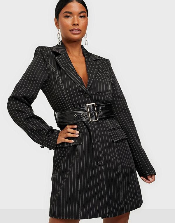 Missguided KXMG Pinstripe Blazer Dress