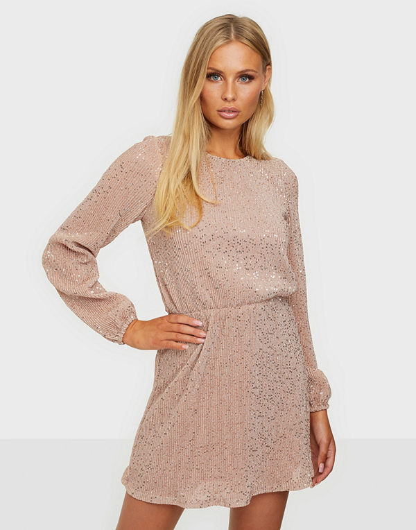 NLY Trend Balloon Sleeve Sequin Dress