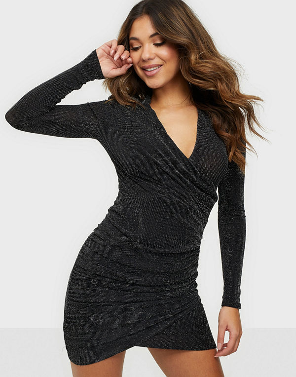 NLY One Drape Low Plunge Dress
