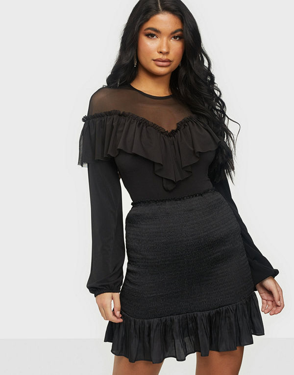 NLY One Mesh Top Frill Body