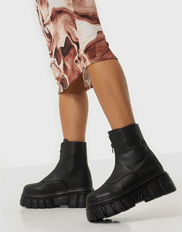NLY Shoes Massive Biker Zip Boot