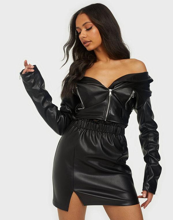 NLY Trend Elastic Waist PU Skirt