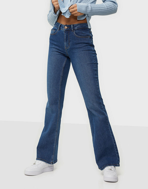 Pieces PCPEGGY FLARED MW JEANS-VI BC