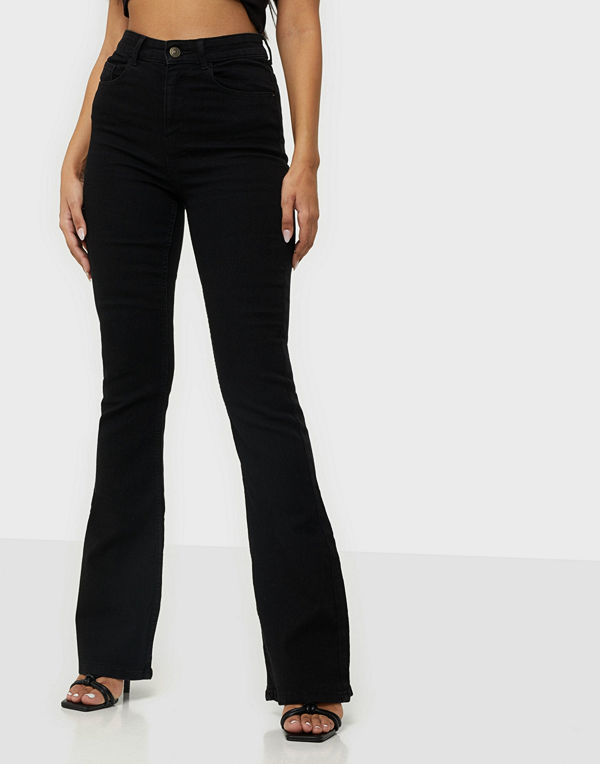 Pieces PCPEGGY FLARED HW JEANS BL-VI BC