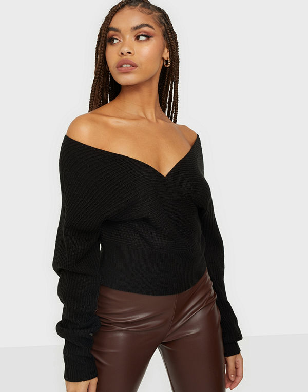 NLY Trend Off Shoulder Wrap Sweater