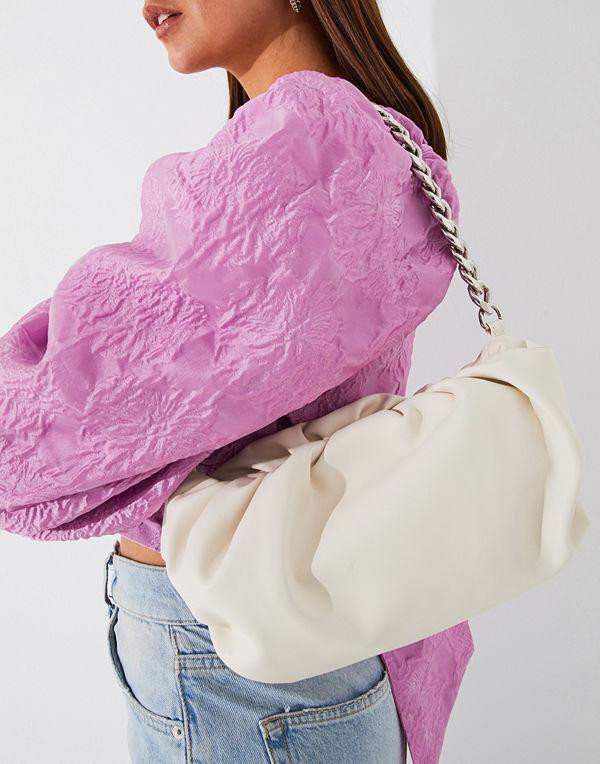 Pieces vit väska PCFIBRA SHOULDER BAG D2D