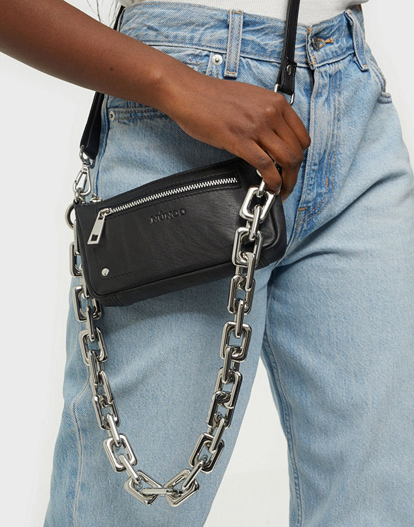 NuNoo omönstrad väska Party bag chain silky