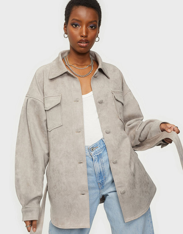 NLY Trend Suede Belted Shacket