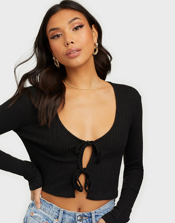 NLY Trend Double Front Tie Top
