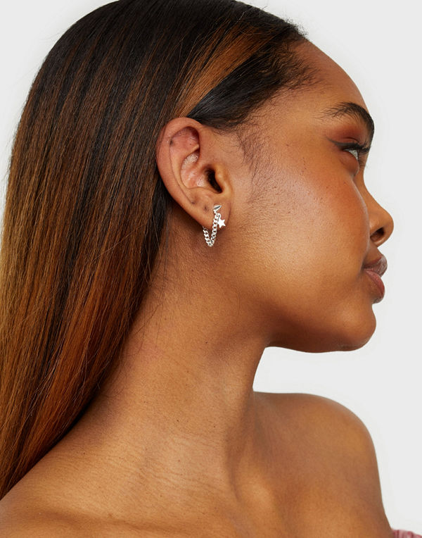 Syster P smycke Love And War Chain Stud Earrings