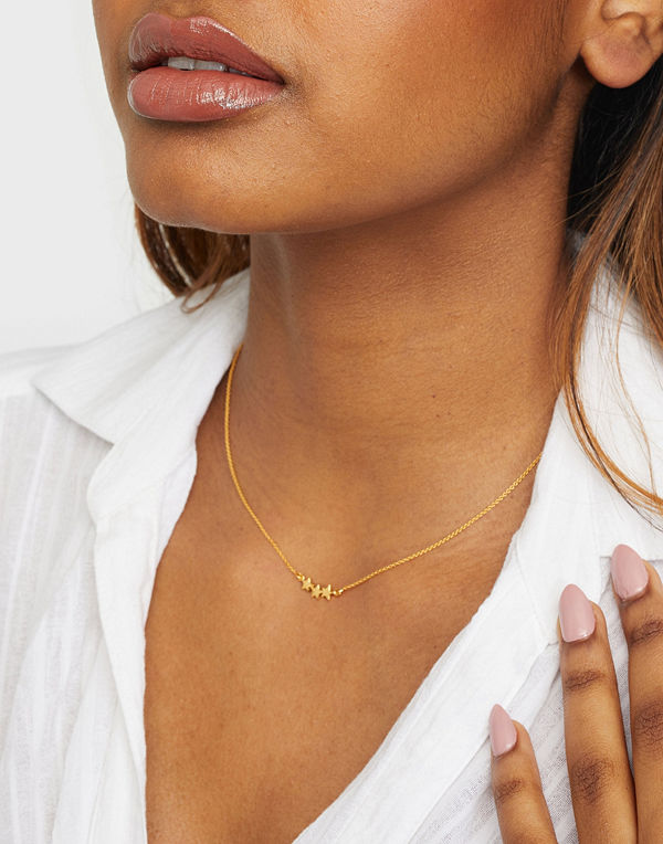 Syster P smycke Snap Necklace Triple Star