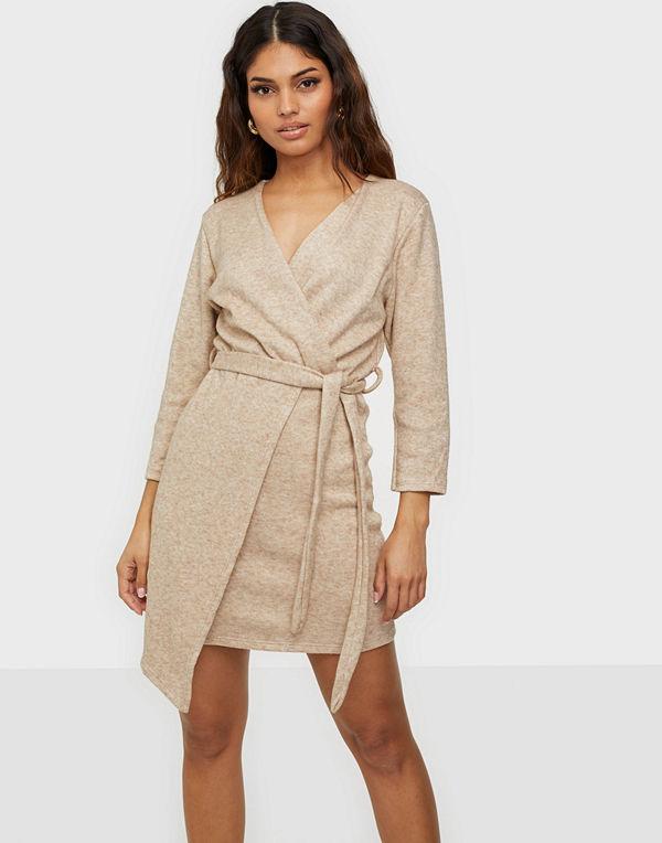Parisian Asymmetric Knitted Dress With Belt
