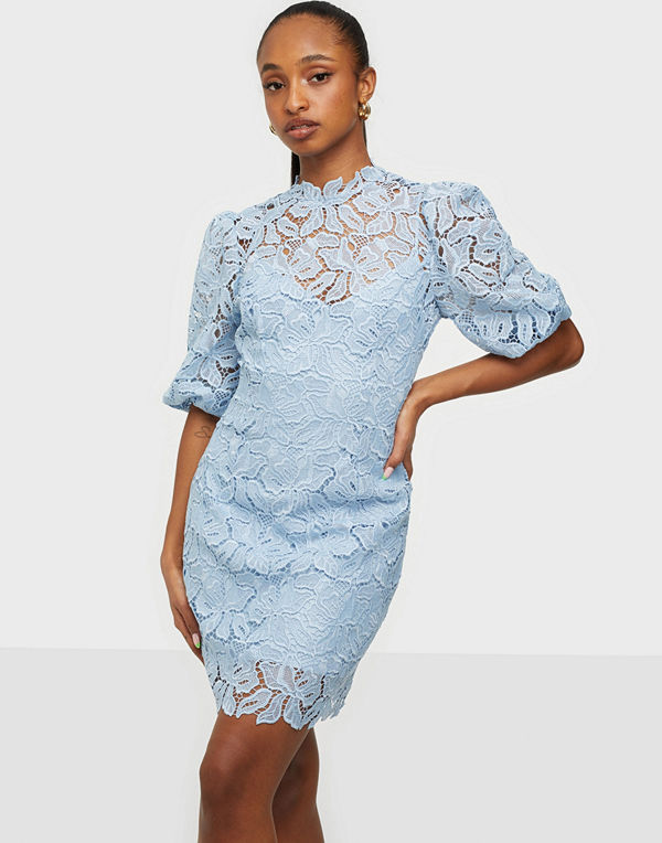 Forever New Lace Puff Sleeve Mini Dre